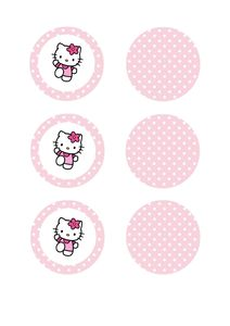 TOPPERS hello kitty roses