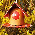 Tuto pâques, faire soi-même une maison œuf en carton pour décorer ou en chocolat pour la manger !