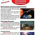 Grande soirée astronomie le vendredi 4 mars à 20h30 à saint-gence