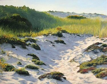 Morning Walk Through Dunes, Oil, 16x20 Debra Lee Valerie, Westbrook, Mass
