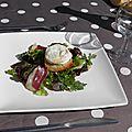 Entrée ou plat : salade aux cabécous du périgord