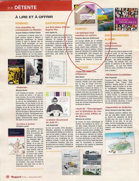 Article Regard Magazine décembre 20120001