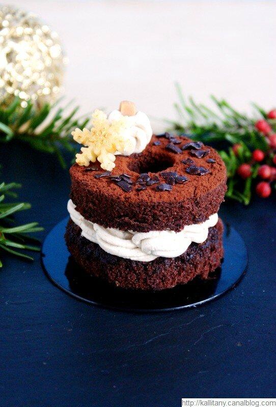 Blog culinaire Kallitany - Recette dessert couronne Noël chocolat café (22)
