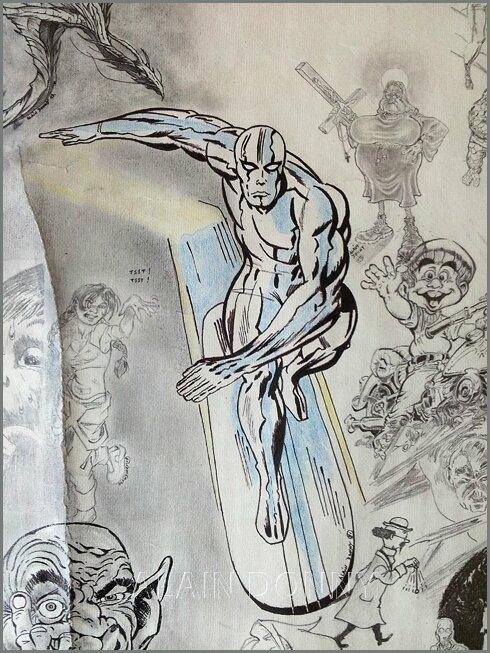 LE SURFER D'ARGENT - SPIDER-MAN / IRON MAN - LA CHOSE / HULK -