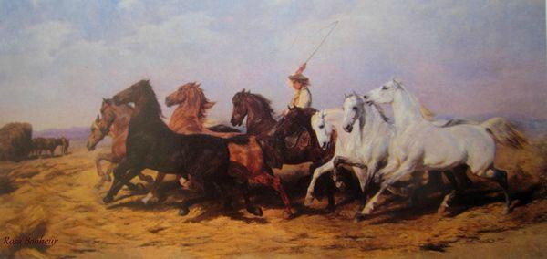 La foulaison du blé en Camargue 1899