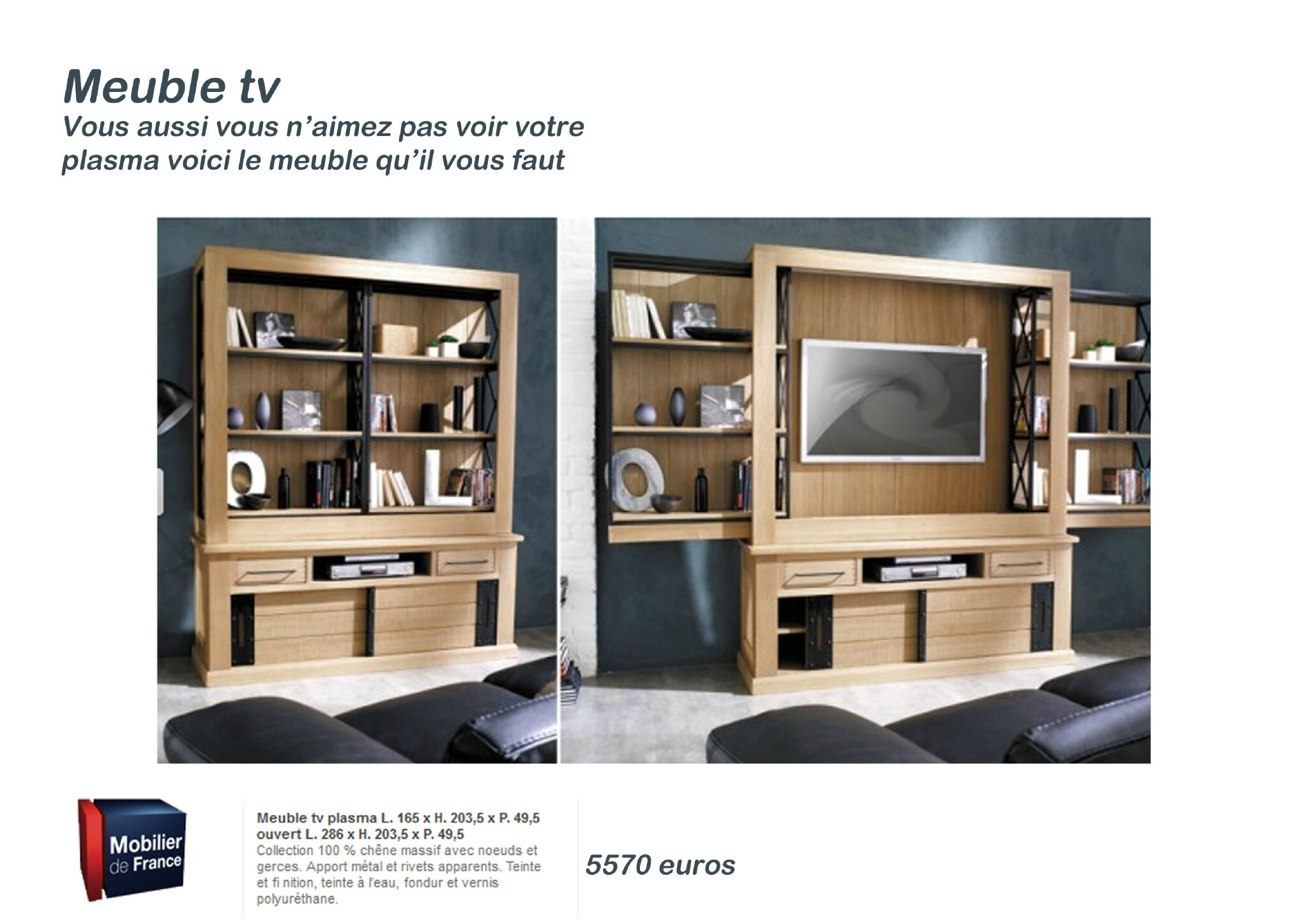 meuble tv avec rangement maison design. Black Bedroom Furniture Sets. Home Design Ideas