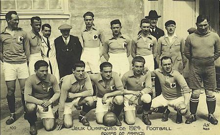 CPA Paris 1924 Equipe de France Foot