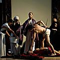 Students from the academy of fine arts of naples create scenes inspired by caravaggios paintings in naples, italy