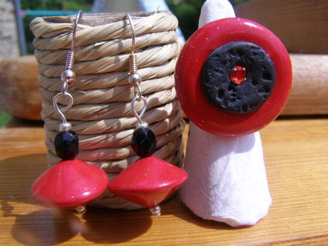 BO+bague Noir&Rouge