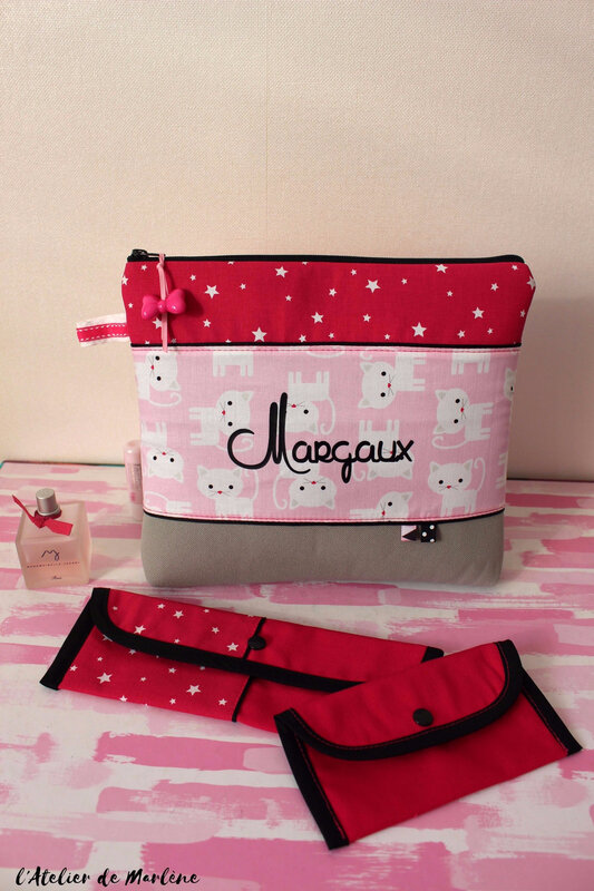 Ensemble de toilette fille chat Margaux 4 ans