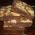 Brownies aux 2 chocolats, amandes,cacahuetes