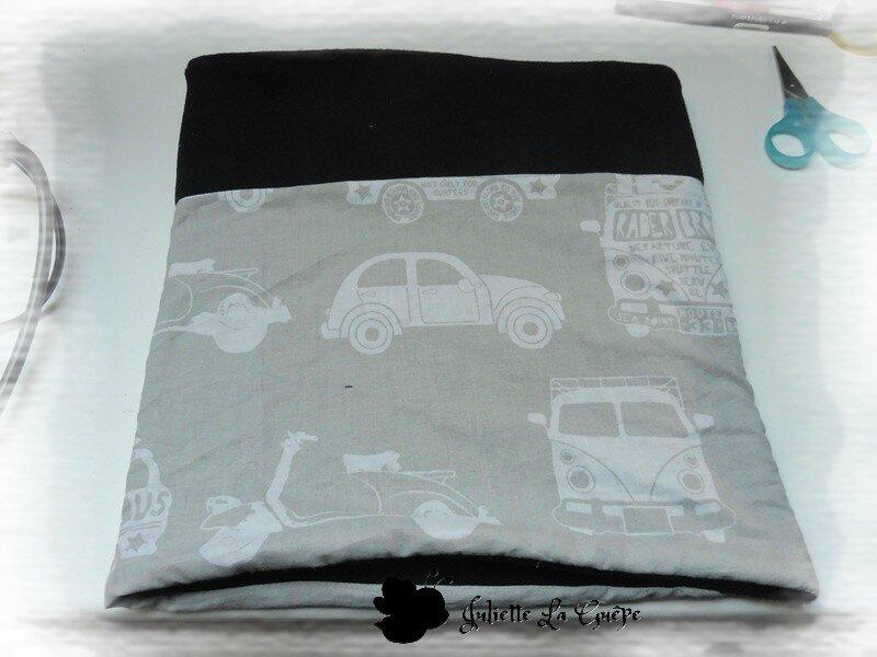 Snood noir et gris voitures