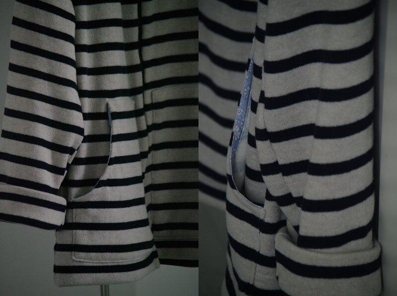 coudre veste lainage femme