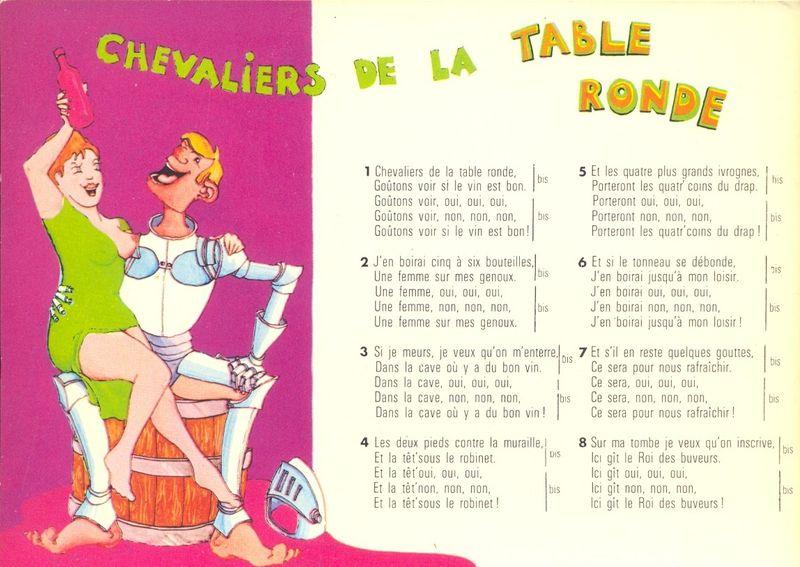 Chevaliers de la table ronde c 39 est boire qu 39 il nous faut le blog du pass - Chanson les chevaliers de la table ronde ...