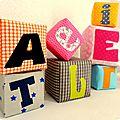 Cubes en tissu le tuto