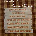 pochette 14 Couture maison