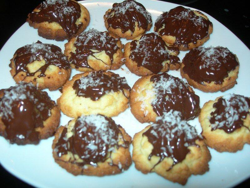 Petits gâteaux de Noël choco / coco