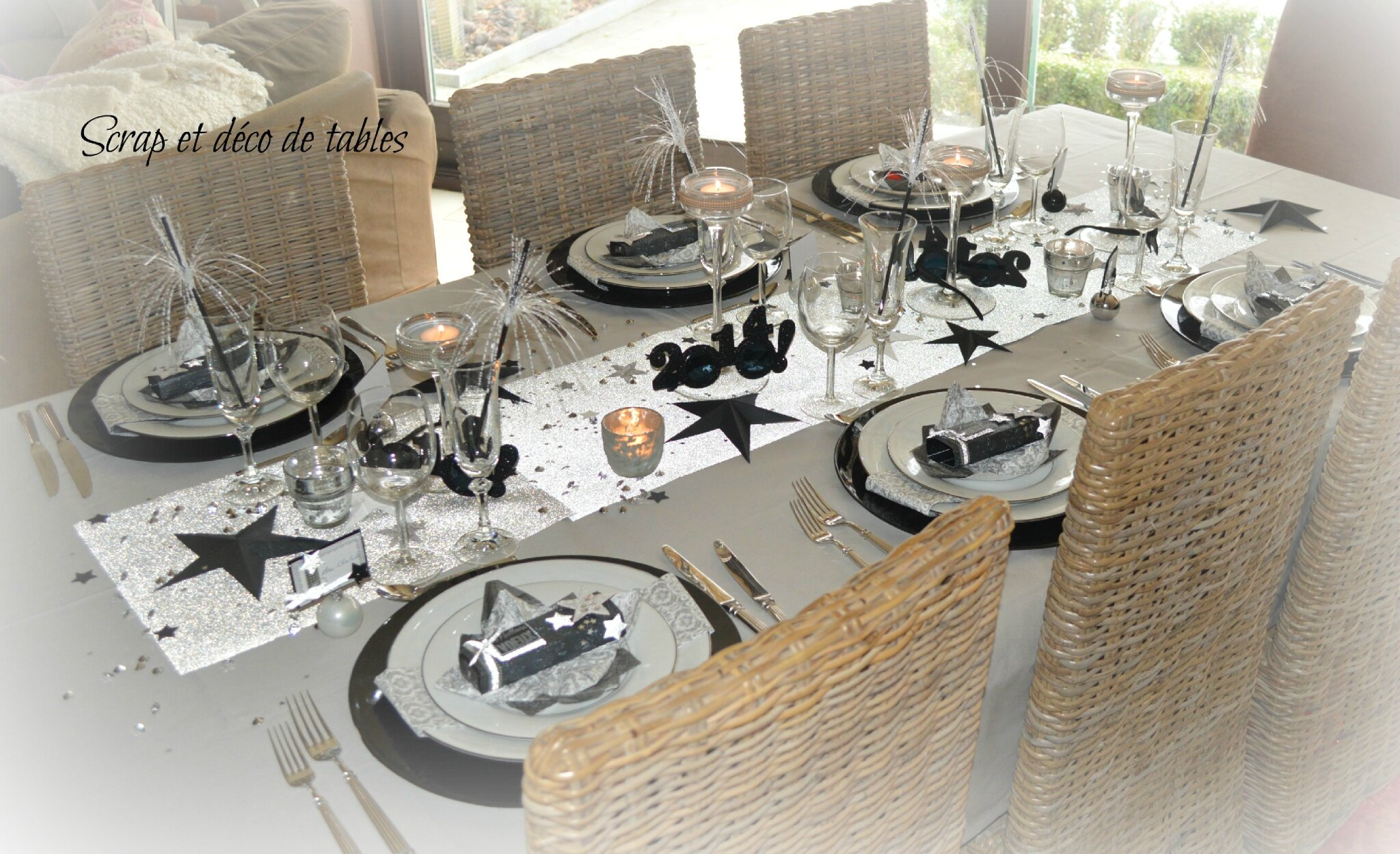Deco de tables nouvel an 2014 scrap et d co de tables - Decoration table reveillon jour de l an ...