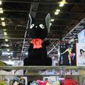 Peluche géante chat noir