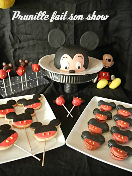 sweet table mickey mouse prunillefee
