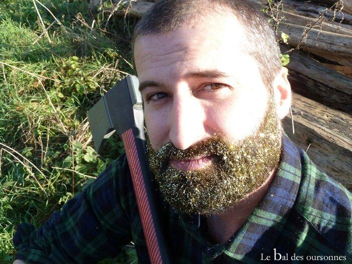 96 Blog Hipster Glitter Beard Paillettes Barbe Fête Bucheron Noël Réveillon