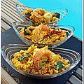 Couscous aux légumes et aux crevettes
