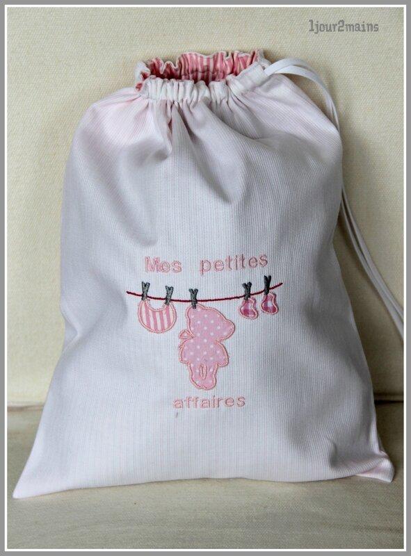 sac corde à linge bébé