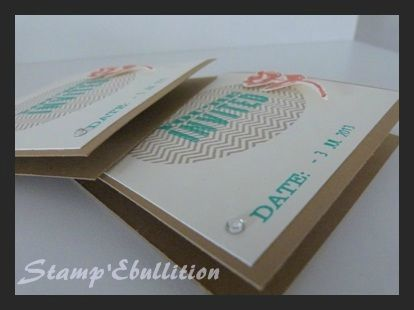 carte invitation stampin up