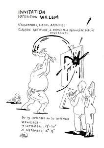 Invitation exposition Willem, galerie Artitude, Paris