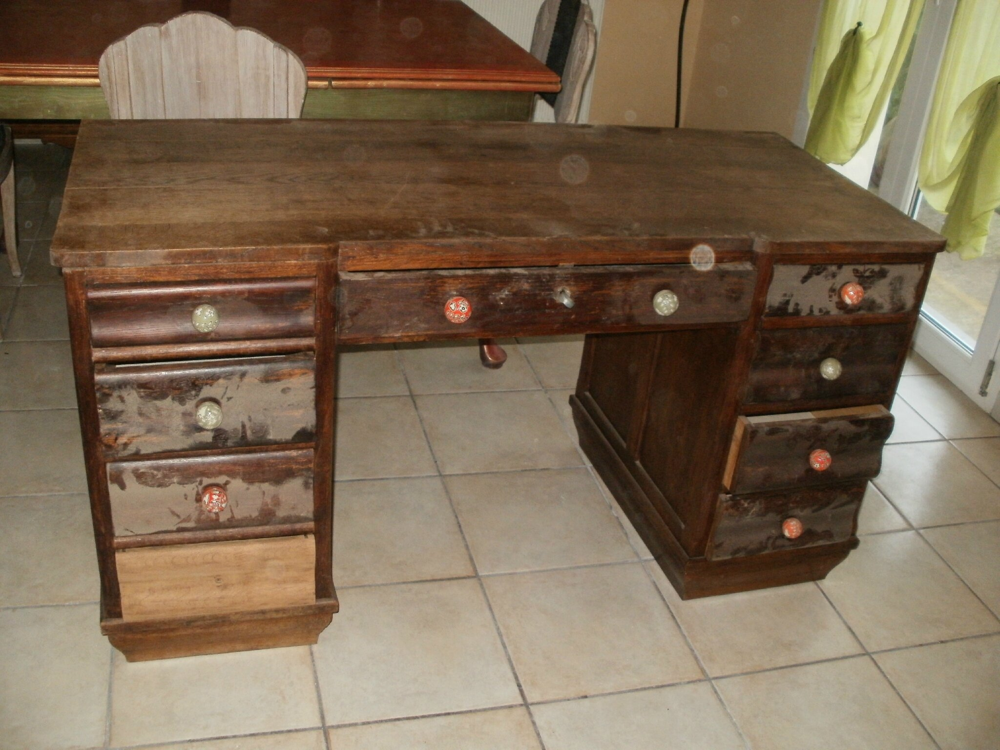 Bureau relook relooking meuble bureau secr taire scriban for Meuble bureau 2 main