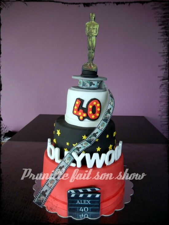 gateau hollywood personnalisé 40 ans photos prunillefee