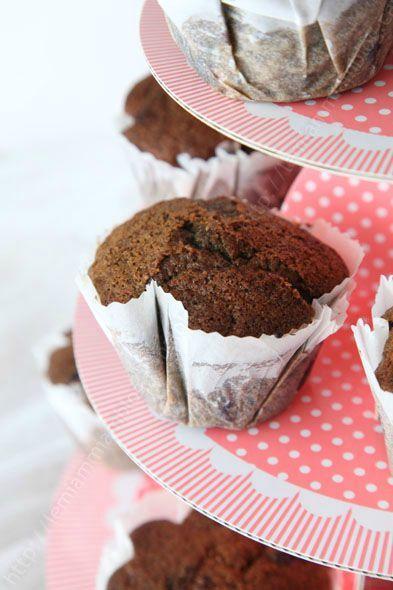 muffins au lait fermente et aux myrtilles LE MIAM MIAM BLOG sur presentoir