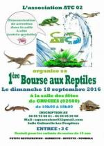 Affiche bourse aux reptiles Atc 02 Grugies 2016