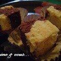 Carrés marbrés miel et chocolat