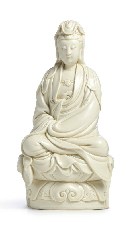 A Dehua figure of Guanyin, Qing dynasty, Kangxi period