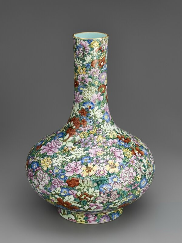 Vase with hundred flowers decoration, 1736-1795