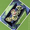 Conchiglioni (grosses pâtes coquillage)farcis 2 versions : 1 version froide 1 version chaude