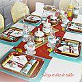 Table de la st valentin