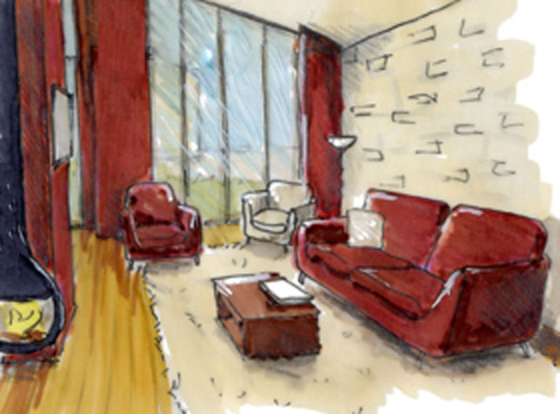 Rough6 photo de croquis projet de g tes en vend e for Architecte interieur vendee