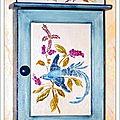 Armoire a clés Oiseau de Paradis 2