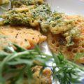 Beignets de fanes de carottes, à la farine de pois chiches