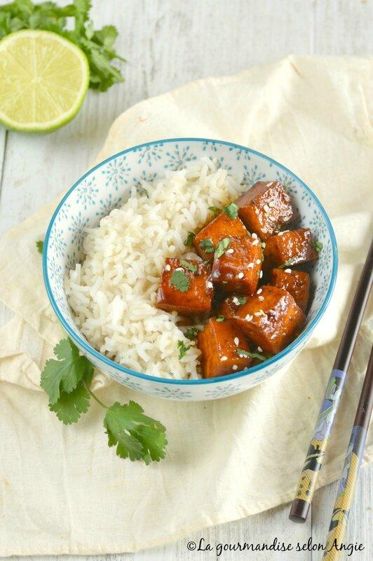 tofu façon porc au caramel vegan 1