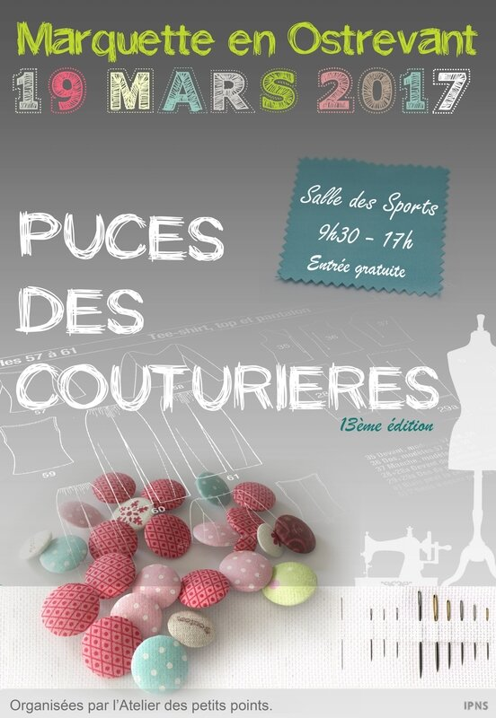 affiche puce couturiere2017