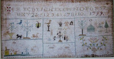 Mother's sampler 1799 Couleur Tourterelle 2-8