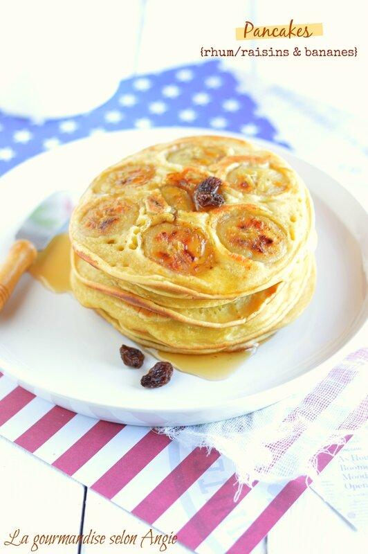 pancakes rhum raisins bananes