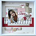 Duo de pages avec le kit pages d'août par cathyscrap85