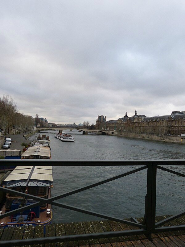 la seine à noel du pont des arts