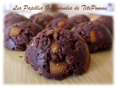 Bouchées chocolatées au flocon d'avoine et oranges confites-1