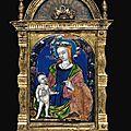 Baiser de paix représentant la vierge à l'enfant, limoges, début du xvie siècle, atelier de jean i pénicaud ( vers 1480 -1541)