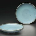 A pair of Junyao shallow dishes, Southern Song-Jin dynasty, 12th-13th century